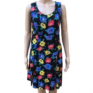 Vintage 90s Crazy Cool Colorful Daisy Romper Dress